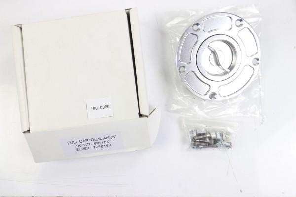 TWM Schnellverschluss Tankdeckel in silber für Ducati 696/796/1100, Panigale 899/959/1199/1299, Diav