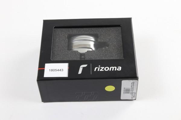 Rizoma Flüssigkeitsbehälter Next für hinten in Silber