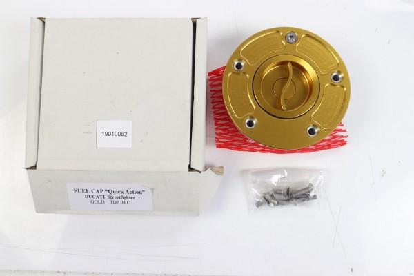 TWM Schnellverschluss Tankdeckel in gold für Streetfighter 848/1098