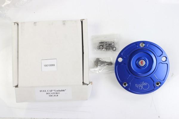 TWM Tankdeckel in blau für Monster 600-S4R, M797-1200, 749-998, 848-1198, SuperSport 2017