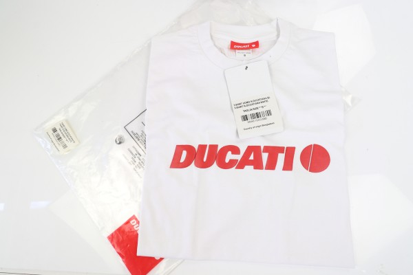 Ducati T-Shirt : Ducatiana Weiss in S