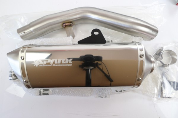 SPARK Exhaust for Kawaski Z800 E (13-16) Polished Stainless Steel