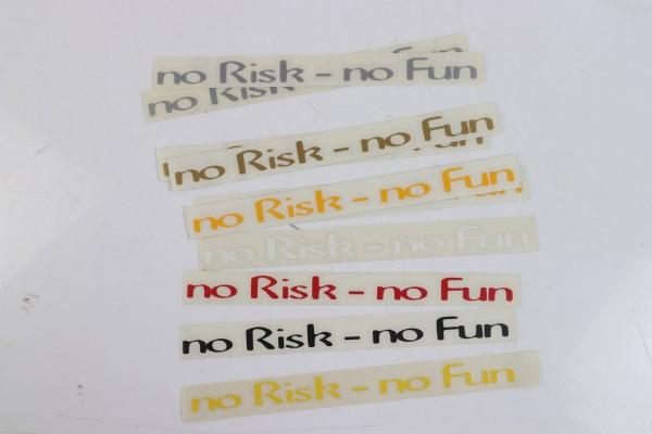 """Aufkleber """"No Risk - no Fun!"""